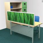 Desk panel nature