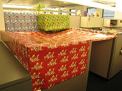 Christmas cubicle