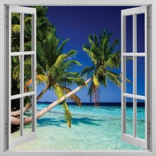 window beach view