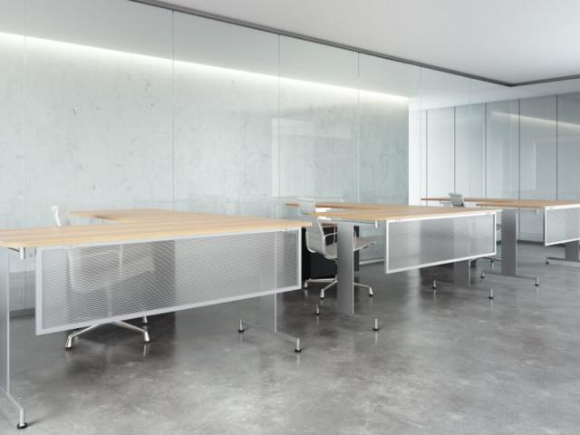 Translucent polycarbonate panel with aluminum frame