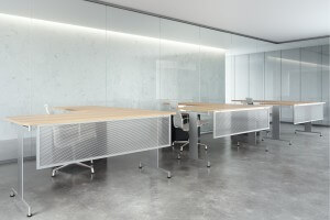 Translucent polycarbonate panel with aluminum frame