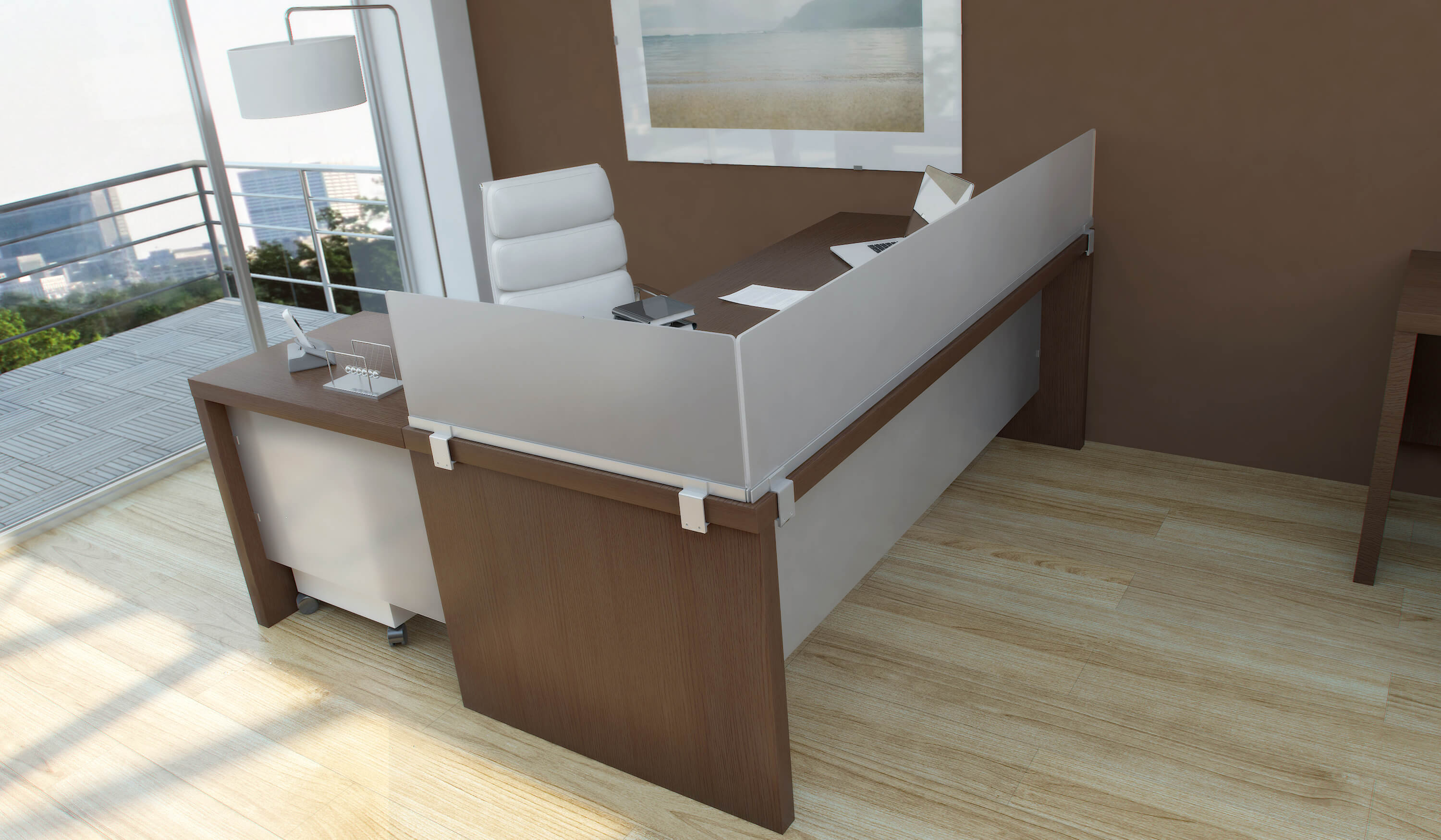 Desk Mounted Privacy Panels Obex Office Panel Extenders