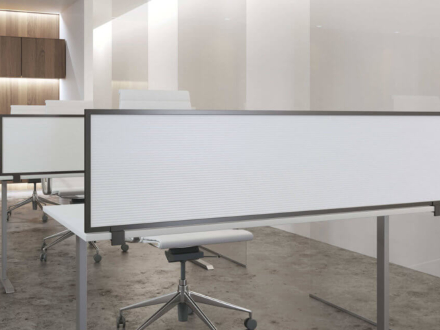 White polycarbonate (fully opaque) panels with Dark Tone frame